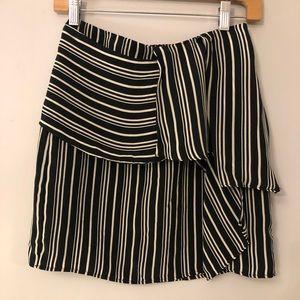 Zara Basic Striped Miniskirt